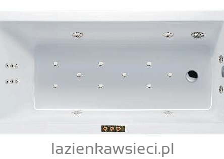 WANNA AQUARIA 1495X705 Z HYDROMASAŻEM OPTIMA AQUA