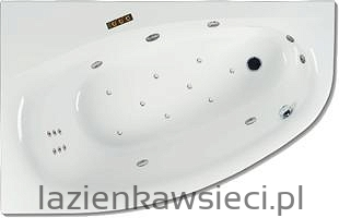 WANNA KAMELEON 1700X1100 Z HYDROMASAŻEM OPTIMA AQUA